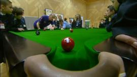 A snooker lesson