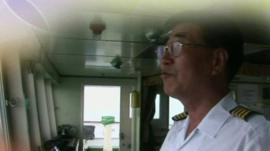 Ferry captain in 2010 video