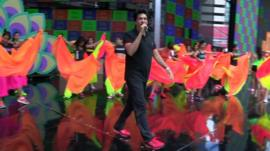 Choreographer Shiamak Davar and dancers
