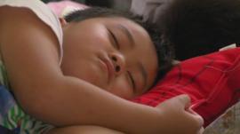 A sleeping boy