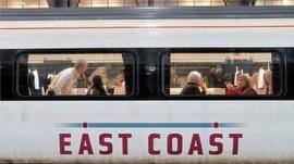 East Coast main line train