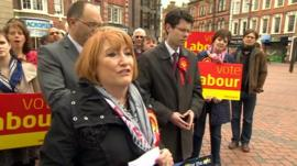Glenis Wilmott and other party members