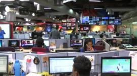 TV newsroom