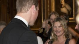 Prince William and Kate Moss at charity function