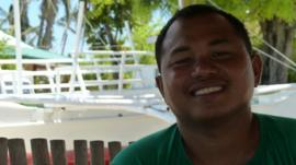 Filipino fisherman Louis Rebamonte