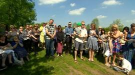 Service at National Memorial Arboretum