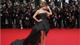 Cheryl Cole on the red carpet at Cannes