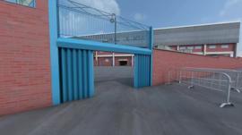 Computer graphic of Hillsborough stadium