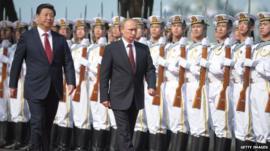 President Putin with President Xi Jinping
