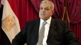 Egypt's interim prime minister Ibrahim Mahlab
