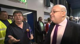 UKIP party agent Phil Heath (left) and Basingstoke and Deane UKIP councillor Stephen West