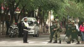 Security presence in Urumqi