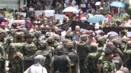 Thai military and anti-coup protesters