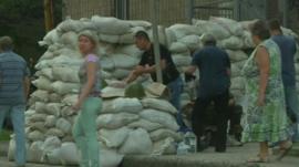 Sandbags Donetsk