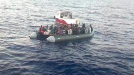 A boat full of migrants