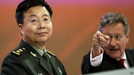 Director-General of IISS, Dr John Chipman and China's Deputy Chief, People's Liberation Army of China, Wang Guangzhong