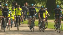 Chris Froome and Team Sky cyclists