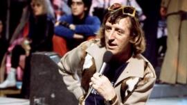 Jimmy Savile presenting Top of the Pops in 1970s
