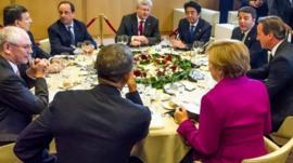 G7 leaders meeting in Brussels