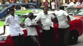 Taxi drivers in Kuala Lumpur, Malaysia