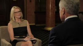 The BBC's Katty Kay with Chuck Hagel