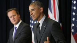President Barack Obama and British Prime Minister David Cameron