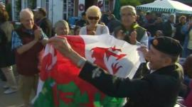 Veteran with Wales flag