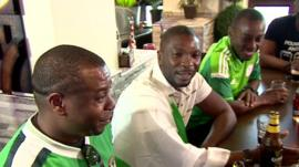 Nigeria fans in London