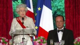 The Queen and President Hollande