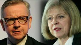 Michael Gove and Theresa May