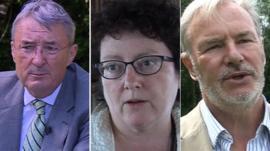 Dr Alan Rees, Elin Jones AM and Dr Tony Calland