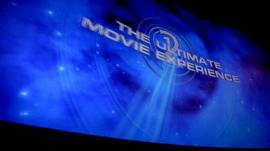 A cinema screen