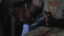 Woman in South Sudan who has witnessed rape and murder
