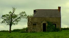 Derelict house on Cleenish Island