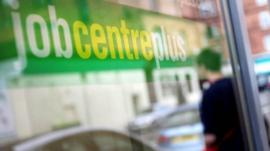 Job centre sign