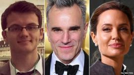 Stephen Sutton, Daniel Day-Lewis and Angelina Jolie