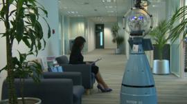 Robot Bob in office