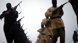 Image from video released by ISIS on 4 January 2014