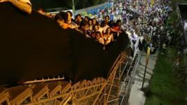 A staircase at Maracana stadium