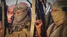 Fighters belonging to Sunni-led militant group Isis