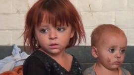 Children in a refugee camp in Bannu, Pakistan