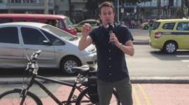 Simon Mundie explains getting around Rio on an electric bike