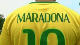 Maradona Brazil shirt