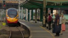 Train at platform