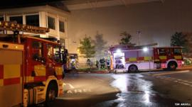 Fire crews at Asos warehouse, Grimethorpe, Barnsley