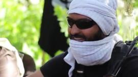 He is identified in the video as Brother Abu Bara' al Hindi