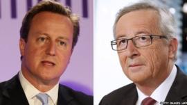 David Cameron & Jean-Claude Juncker