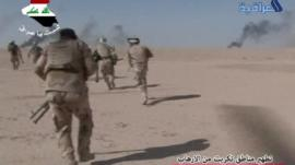 Iraq soldiers apparently advancing towards Tikrit