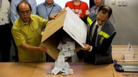 Votes are being counted