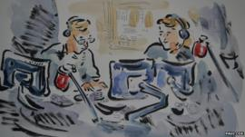 Presenters Sarah Montague and John Humphrys as an illustration